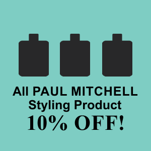 10% Off all PAUL MITCHELL Styling Products