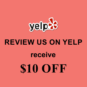 $10 Off with Yelp review!  Oct/Nov 2015
