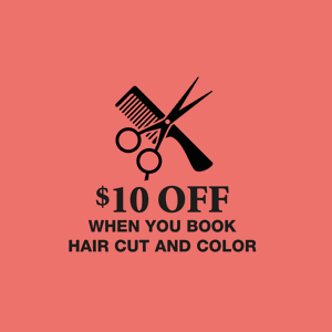 $10 Off When You Book Haircut & Color! June & July 2016